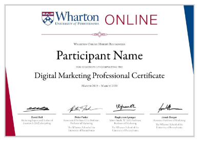 Amity Future Academy - Whaton Certificate